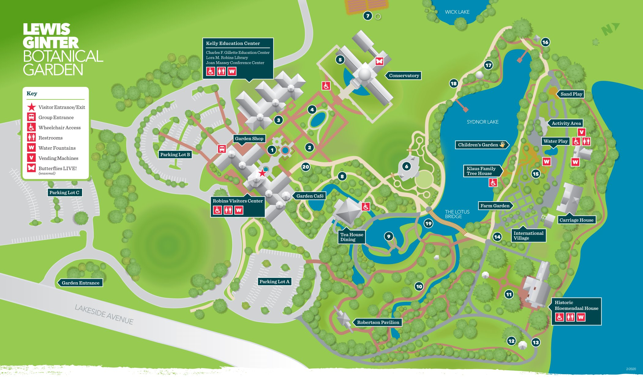 garden map - Lewis Ginter Botanical Garden